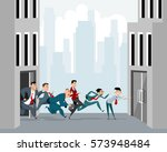 vector illustration of a many... | Shutterstock .eps vector #573948484