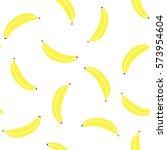 yellow pastel banana on white...   Shutterstock .eps vector #573954604