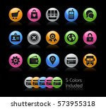 online store icons    the... | Shutterstock .eps vector #573955318