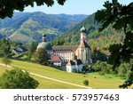beautiful landscape in the... | Shutterstock . vector #573957463