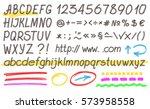 handwritten highlighter... | Shutterstock . vector #573958558