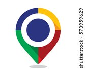 map pointer  pin  with colorful ... | Shutterstock .eps vector #573959629
