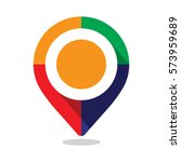 map pointer  pin  with colorful ... | Shutterstock .eps vector #573959689