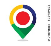 map pointer  pin  with colorful ... | Shutterstock .eps vector #573959836