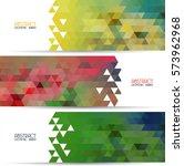 set banner abstract... | Shutterstock .eps vector #573962968