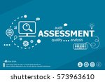 assessment related words and... | Shutterstock .eps vector #573963610
