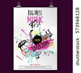 music poster  ticket or program.... | Shutterstock .eps vector #573968128