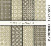 set of 8 seamless geometric...   Shutterstock .eps vector #573970939