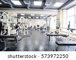 interior of a fitness hall | Shutterstock . vector #573972250