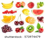 mixed fruits. collection of... | Shutterstock . vector #573974479