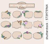 floral label rustic vintage... | Shutterstock .eps vector #573975964