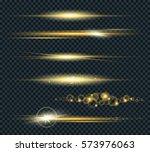 vector set of glow lightning... | Shutterstock .eps vector #573976063