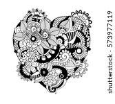 zentangle hand drawn tribal... | Shutterstock .eps vector #573977119