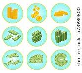 set a various kind of money.... | Shutterstock .eps vector #573980800