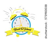 back to school graphic design ... | Shutterstock .eps vector #573983038