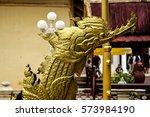 golden steel khmer pattern prow ...   Shutterstock . vector #573984190