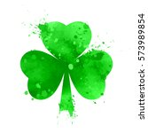 happy st. patricks day shamrock ... | Shutterstock .eps vector #573989854