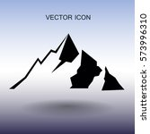 mountains icon vector... | Shutterstock .eps vector #573996310
