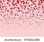 falling red hearts isolated on... | Shutterstock .eps vector #574002388