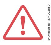 danger sign in a flat design on ... | Shutterstock .eps vector #574002550