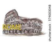 rome vector illustration.... | Shutterstock .eps vector #574003048