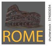 rome vector illustration.... | Shutterstock .eps vector #574003054