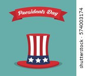 presidents day. usa hat with... | Shutterstock .eps vector #574003174