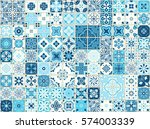 seamless pattern with with... | Shutterstock .eps vector #574003339
