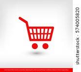 shopping cart icon. one of set...