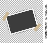 photo frame with shadow on...   Shutterstock .eps vector #574007086