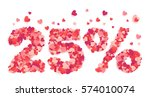 25 percent valentines day... | Shutterstock .eps vector #574010074