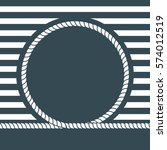 nautical label on a blue... | Shutterstock .eps vector #574012519