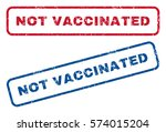 not vaccinated text rubber seal ... | Shutterstock .eps vector #574015204