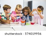 kids doing a chemical... | Shutterstock . vector #574019956