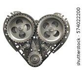 concept mechanical heart v8 ... | Shutterstock . vector #574022200