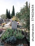 Small photo of LOURMARIN, FRANCE - NOVEMBER 22, 2014 : Grave of French author Albert Camus's wife on the cemetery in Lourmarin