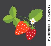 Strawberry With Leaves And A...