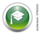 glossy graduation cap sign... | Shutterstock .eps vector #57403123