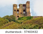 Scarborough Castle On Hilltop