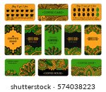 visit card design set with... | Shutterstock .eps vector #574038223