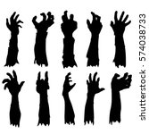 zombie hand silhouette. clip... | Shutterstock .eps vector #574038733