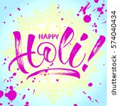 illustration of holi spring... | Shutterstock .eps vector #574040434