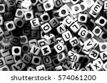 black and white of english... | Shutterstock . vector #574061200