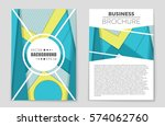 abstract vector layout... | Shutterstock .eps vector #574062760