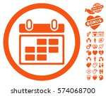 month calendar icon with bonus... | Shutterstock .eps vector #574068700