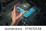 central computer processors cpu ... | Shutterstock . vector #574070158