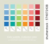 color palette. collection color.... | Shutterstock .eps vector #574072438