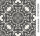 seamless pattern with floral... | Shutterstock .eps vector #574072504
