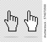 pixel hand on isolated... | Shutterstock .eps vector #574073500