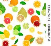 seamless pattern vector... | Shutterstock .eps vector #574074586